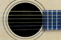 Close-up acoustic guitar Royalty Free Stock Photos