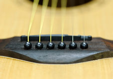 Close-up acoustic guitar Stock Image