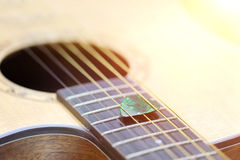 Close-up acoustic guitar Royalty Free Stock Image