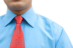 Close-up of  adjusting tie Royalty Free Stock Photo
