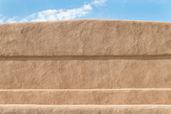 Close-up of a adobe mudwall stock image