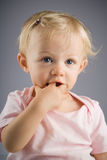 Close up of adorable baby girl Stock Images