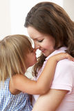 Close Up Of Affectionate Mother And Daughter At Ho Royalty Free Stock Image