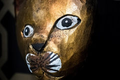 Close up of African wooden art Royalty Free Stock Photos