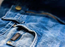 Close up aged jeans Stock Image