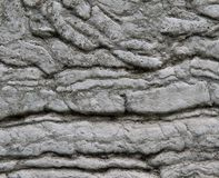 Aged Wall with Warped and Rippled Stone Effect Stock Image