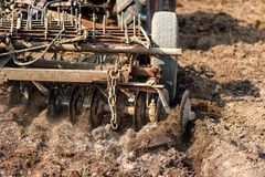 Close-up of agriculture harvesting and cultivating Stock Photo