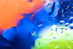 Close up of air bubble with colorful background Stock Images