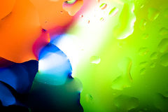 Close up of air bubble with colorful background Stock Image