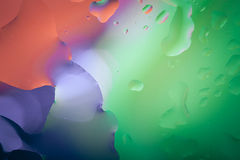 Close up of air bubble with colorful background Royalty Free Stock Photos