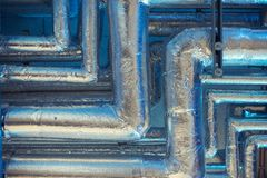 Close up on air condition pipes Stock Photo