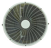 Close up of air conditioner fan on white Royalty Free Stock Image