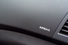 Close-up of airbag sign Royalty Free Stock Image
