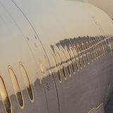 Close-up of aircraft with reflections Stock Photos