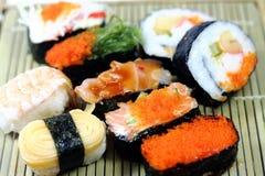 Close-up ajustado do sushi Imagem de Stock Royalty Free