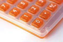 Close up alaranjado da calculadora Fotos de Stock Royalty Free