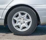 Close up of an alloy wheel Royalty Free Stock Photo