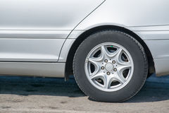 Close up of an alloy wheel Royalty Free Stock Images
