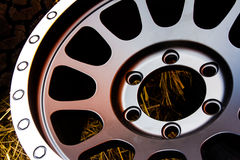 Close up alloy wheels Stock Photo