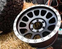 Close up alloy wheels Stock Photos