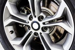 Close up alloy wheels Stock Images
