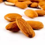 Close Up of Almonds Royalty Free Stock Photos