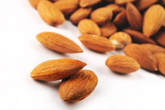 Close Up of Almonds Stock Photos