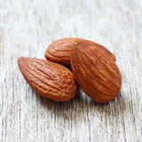 Close up of almonds Royalty Free Stock Images