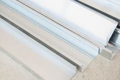Close up of aluminium sheet Stock Image