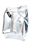Close up of an aluminum bag on white background Stock Photography