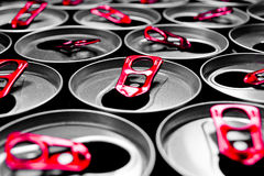 Close Up Aluminum cans  Stock Images