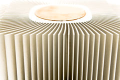 Close up of aluminum cpu cooler Royalty Free Stock Photo