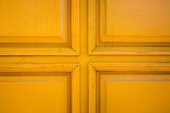 Close up amarelo da porta Imagem de Stock