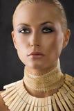 Close up of amazon woman Royalty Free Stock Image