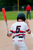 Close-up of american baseball boy from behind. Stock Image