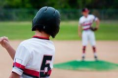 Close-up of american baseball boy. Stock Photos