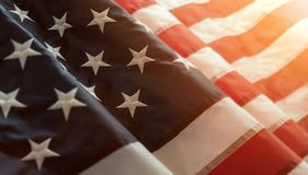 Close up of american flag Stock Images