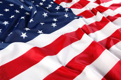 Close up of American flag Stock Photography