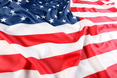 Close up of American flag Royalty Free Stock Photos