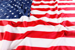 Close up of American flag Royalty Free Stock Photo