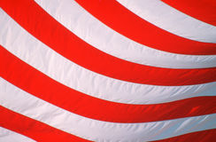 Close Up of American flag's stripes. Close-up of stripes on American flag Royalty Free Stock Images