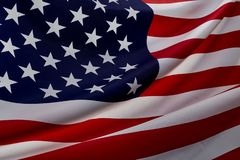 Free Close Up American Flag Wave Stock Photo - 152006660