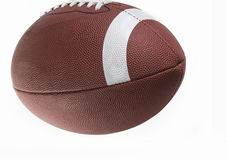Close up of an American football. With white background Stock Images