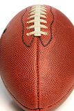 Close up of American Football. Isolated on a white background Royalty Free Stock Image