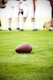 Close up on an american football ball Royalty Free Stock Images