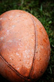 Close up of an american football Stock Photography