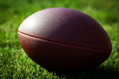 Close up of an american football Stock Image