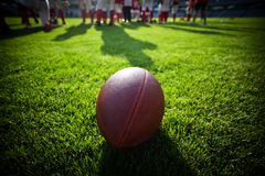 Close up of an american football Stock Photo