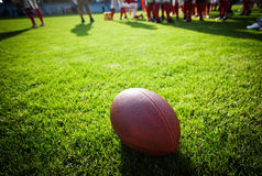 Close up of an american football Royalty Free Stock Image
