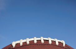 Close-up of American Football Laces Royalty Free Stock Photography